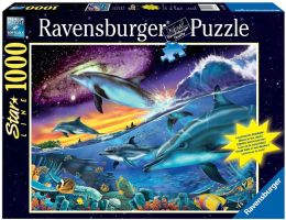 Splendid Dolphins 1000 Piece Glow-in-the-Dark Puzzle