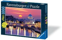 Evening in Rome 1000 Piece Glow-in-the-Dark Puzzle