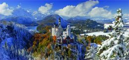 Neuschwanstein Castle 2000 Piece Panorama Puzzle