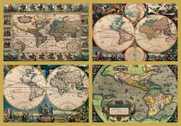 4 Historic World Maps - 18,000  piece puzzle