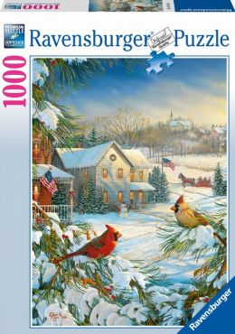 Winter Cardinals 1000 Piece Puzzle