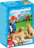 Product Image. Title: Playmobil Golden Retriever with Puppies