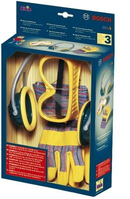 Bosch Toy Tool Set with Gloves, Goggles & Ear Muffs