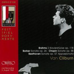 Brahms: 2 Klavierstücke Op. 118; Barber: Sonate Op. 26; Chopin: Sonate Op. 58; Beethoven: Sonate Op. 57 Appassionata