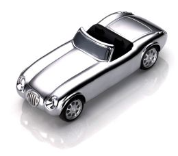 Roadster Chrome Paperweight with Paper Clip Magnet