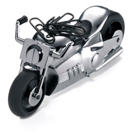 Easy Rider Motorcycle Chrome Paperweight with Paper Clip Magnet