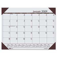 House of Doolittle HOD12473 Desk Pad- 12 Month- Jan-Dec- 22in.x17in.- Orchid