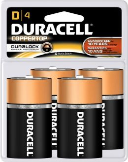 Duracell D 4PK Alkaline Batteries
