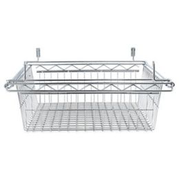 Alera SW59WB2418SR Sliding Wire Basket For Wire Shelving 18w x 24d x 8h Silver