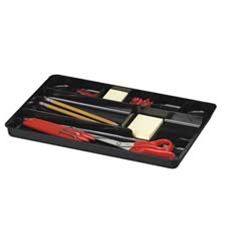 Officemate International Corp OIC21302 Drawer Organizer Tray- Nine Cmpt- 16in.x9in.x1-.50in.- Black