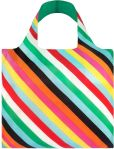 """Product Image. Title: Stripes Print Reusable Tote in Matching Pouch 20"""" x 16.5"""""""