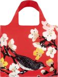 "Product Image. Title: Pink Cherry Blossom Print Reusable Tote in Matching Pouch 20"" x 16.5"""