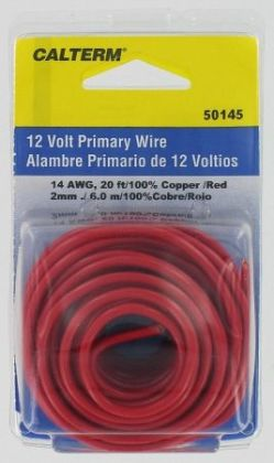 Calterm Automotive 20ft. Red 14 Gauge Primary Wire 50145