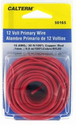 Calterm Automotive 30ft. Red 16 Gauge Primary Wire 50165