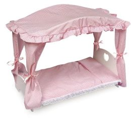 Doll Canopy Bed with Bedding