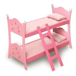 Blossoms & Butterflies Doll Bunk Bed with Ladder