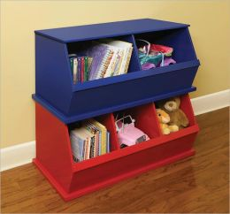Two Bin Storage Cubby - Blue