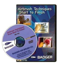 Airbrush Techniques Start to Finish - DVD Approximately 30 mins.