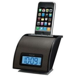 iHome iP11 Spacesaver Alarm Clock for iPod and iPhone - Black