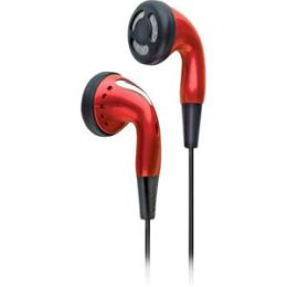 Colortunes Earbuds with Volume Control in Red
