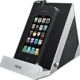 iHome IDM3SC 2.0 Speaker Dock System for iPad/iPhone/iPod - Silver