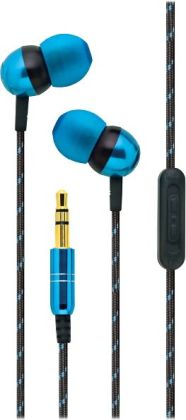 iHome Noise Isolating Earbuds with Volume Control - Blue