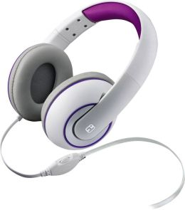 iHome iB41WUC Over the Ear Headphones with Volume Control - White
