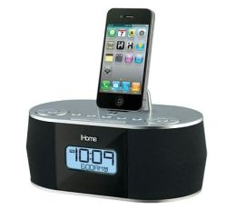 iHome ID38SV App Enhanced Stereo System with Dual Alarm FM Clock Radio for iPad/iPhone/iPod