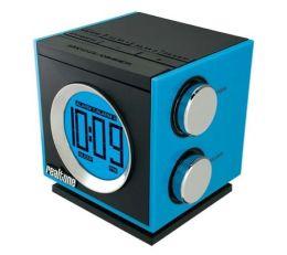 Realtone RT205L AM/FM Dual Alarm Clock Radio - Blue