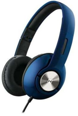 iHome IB45LC On-Ear Foldable Headphones with Pouch - Blue