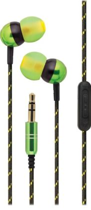 iHome iB17QY Noise Isolating Earphones with Volume Control and Pouch - Geen