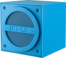 iHome iBT16LC Bluetooth Rechargeable Mini Speaker Cube in Rubberized Finish - Blue