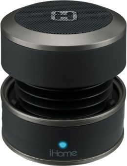 iHome iBT60B Bluetooth Rechargeable Mini Speaker Rubberized - Black