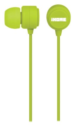 iHome iB22 Rubberized Noise Isolating Earphones - Green
