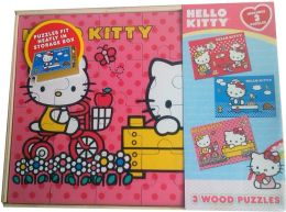 Hello Kitty Four in 1 Real Wood