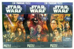Star Wars 3 in 1 Panoramic Puzzle 100 Pc