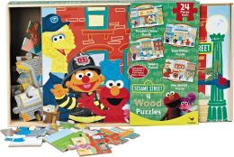 Sesame Street 4 in 1 Wood Puzzle