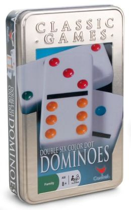 Double 6 Color Dot Dominoes Tin