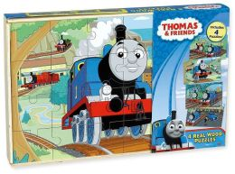 Thomas the Tank Wood Puzzle 4 Pk Box