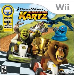 DreamWorks SuperStar Kartz w/wheel Wii