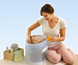 Prince Lionheart WashPod Infant Bath Tub, Blue
