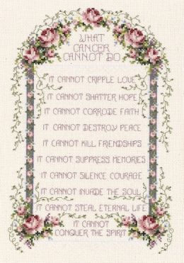 What Cancer Cannot Do Counted Cross Stitch Kit-8-1/4