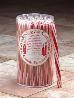 Biedermann & Sons C320RD Candycane Candle- Peppermint