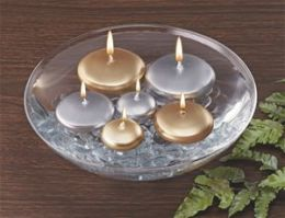 Biedermann & Sons C1330G Large Gold Floating Candle