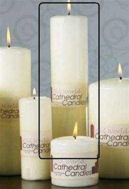 Biedermann & Sons C2510 2.5 X 10 Cathedral Candle