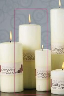 Biedermann & Sons C2758 3 X 8 Cathedral Candle