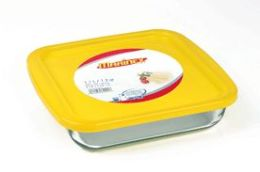 Lancaster Colony GD16221250 Small Square Roaster with Color Plastic Lid, 1.2 qt, pk 6 st