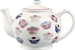 Queens Cupcakes 6 Cup Bone China Teapot