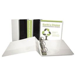 Samsill 18937 EcoChoice Recycled Round Ring View Binder 1 White