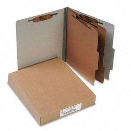 Acco 15056 Pressboard 25-Point Classification Folders Ltr 6-Section Mist Gray 10/box